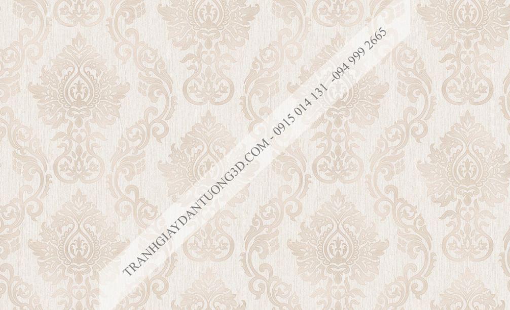 Giấy dán tường hoa châu âu màu nâu 23234