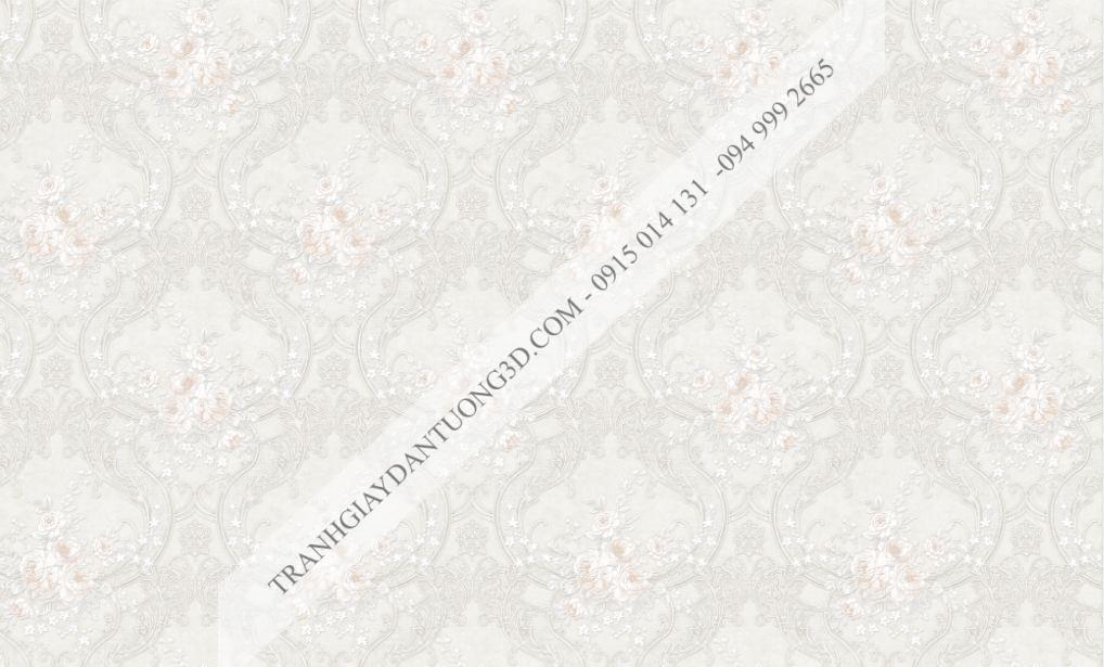 Giấy dán tường hoa châu âu màu trắng Fiesta mã 23024