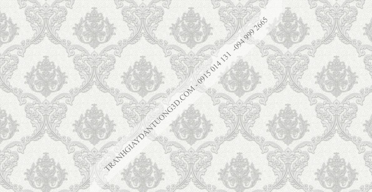 Giấy dán tường hoa châu âu trắng 23041
