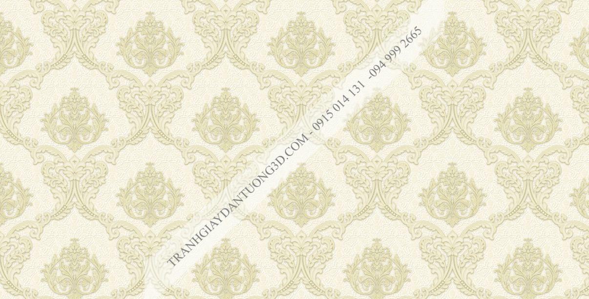 Giấy dán tường hoa châu âu vàng nhạt 23042