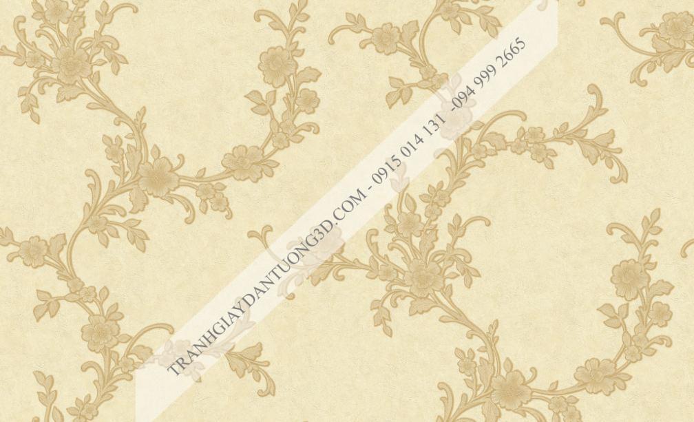 Giấy dán tường hoa dây leo nâu damacus 23251