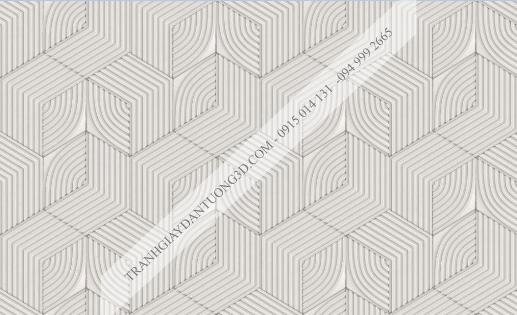 Giấy dán tường khối vuông 3 chiều đan sọc 63072
