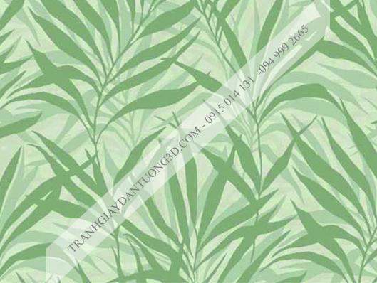Giấy dán tường lá cây xanh 4011-2