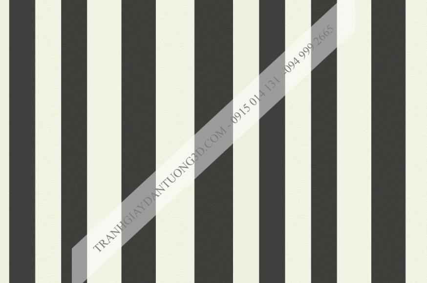 Giấy dán tường sọc đen trắng hiện đại 15011