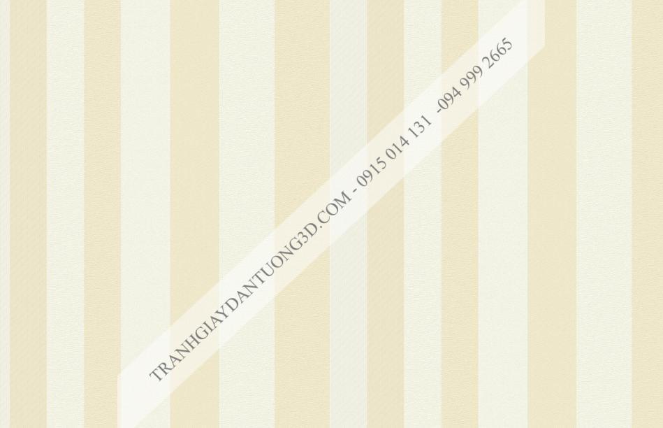 Giấy dán tường sọc vàng trắng hiện đại 15014