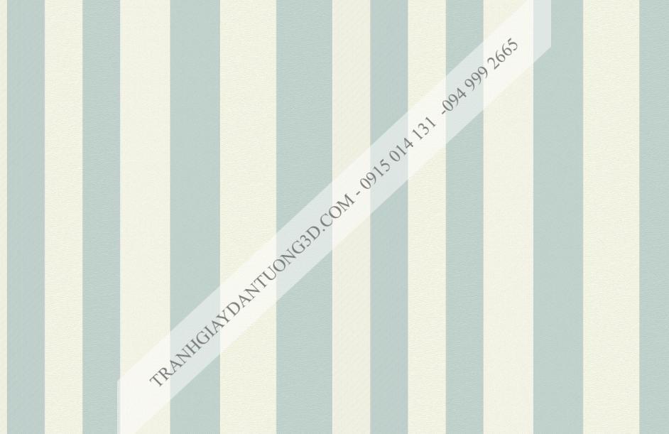Giấy dán tường sọc xanh trắng hiện đại 15013