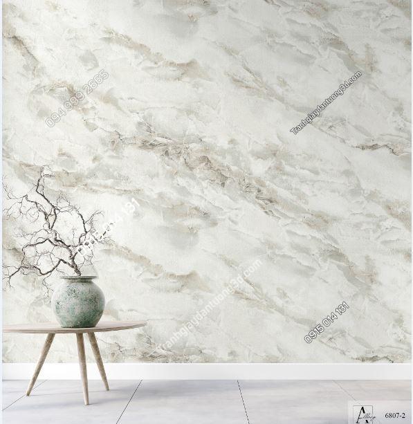 Giấy dán tường giả đán cẩm thạch trắng 6807-2 KG