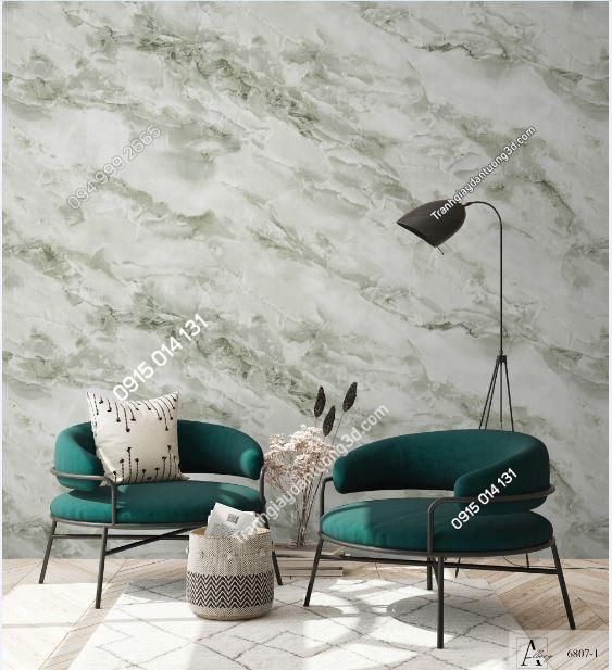 Giấy dán tường giả đán cẩm thạch xanh 6807-1 KG