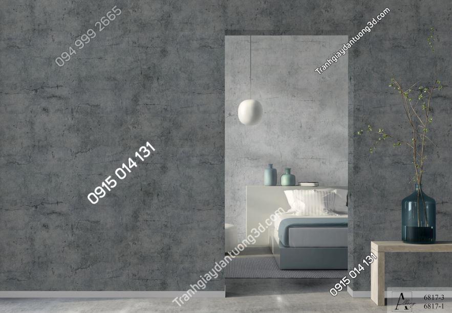 Giấy dán tường giả xi măng 6817-3,6817-1 KG