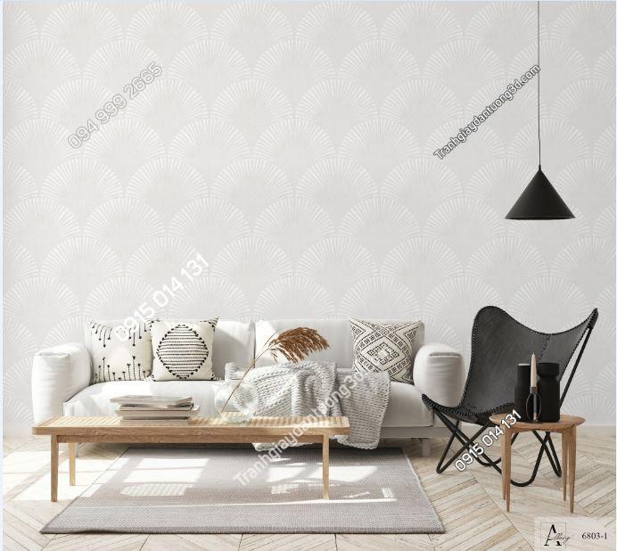Giấy dán tường họa tiết kiểu nhật bản tông trắng 6803-1 KG