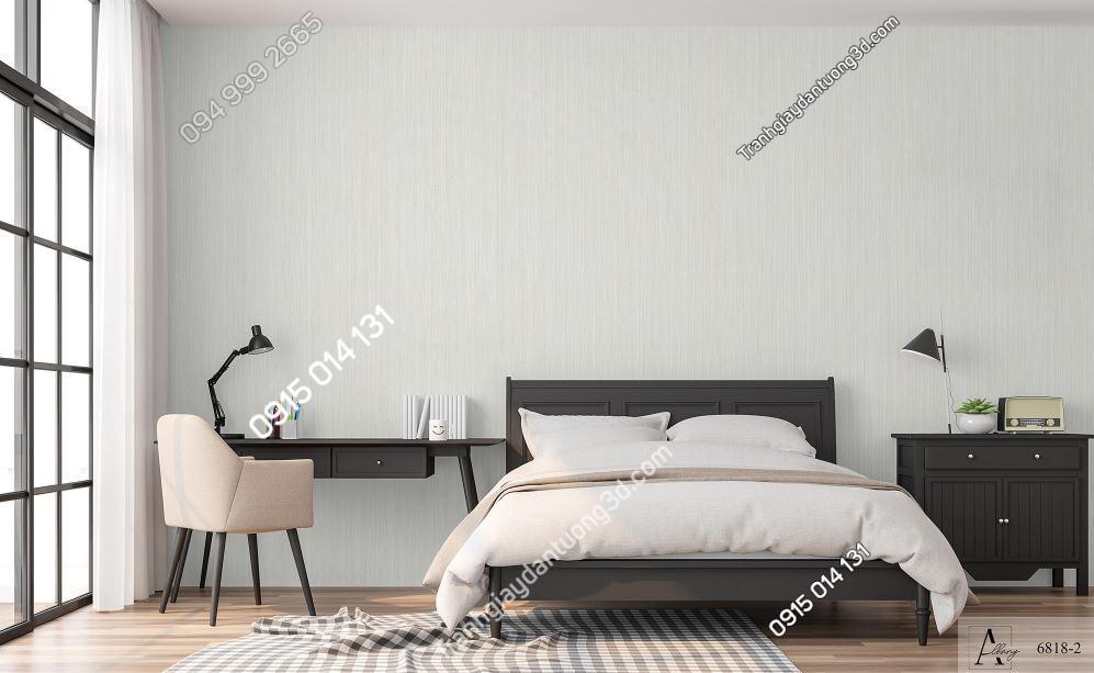 Giấy dán tường một màu dán phòng ngủ 6818-2 KG