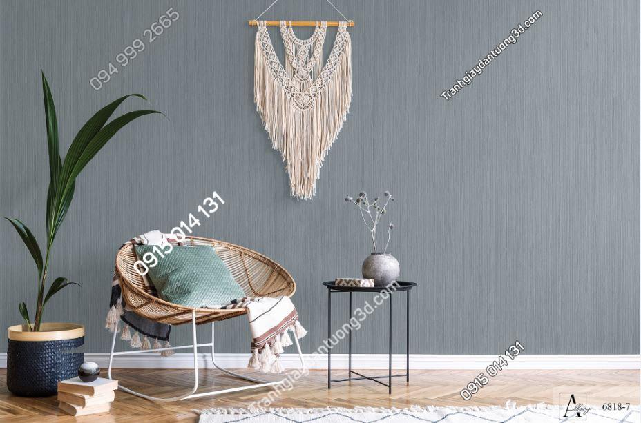 Giấy dán tường một màu ghi 6818-7 KG