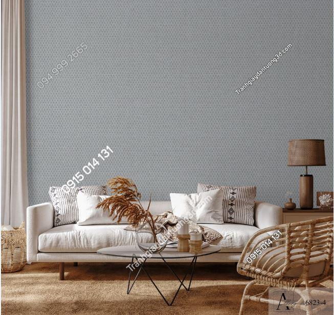 Giấy dán tường một màu ghi 6823-4 KG