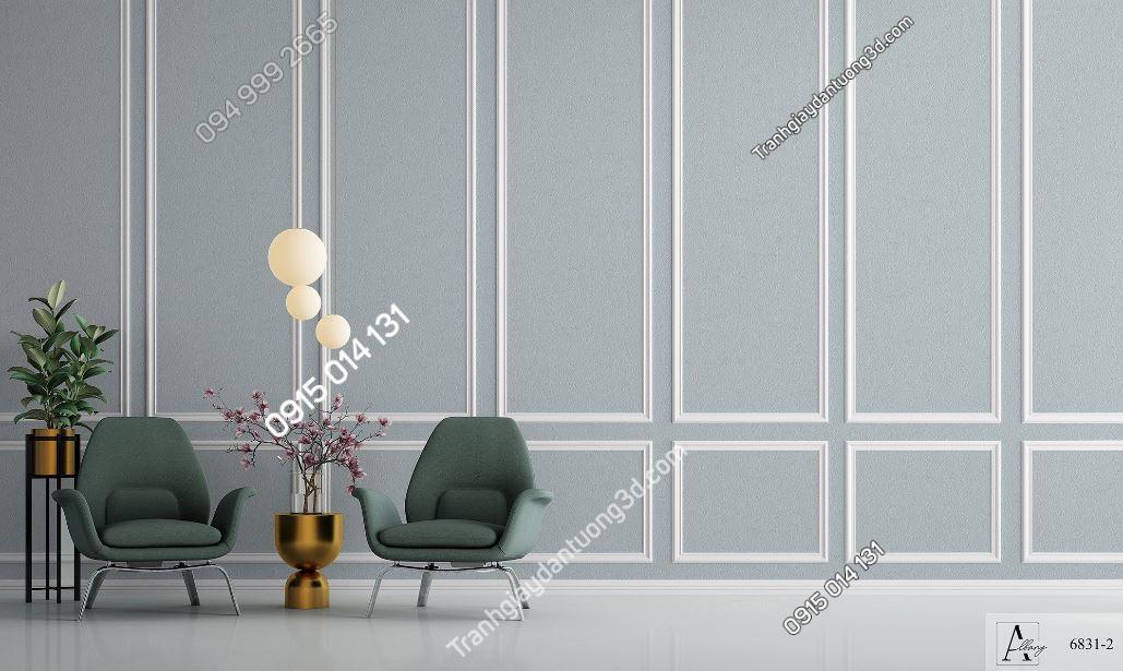 Giấy dán tường một màu ghi 6831-2 KG