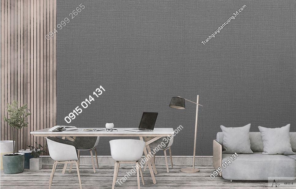 Giấy dán tường một màu ghi đậm 6811-4 KG