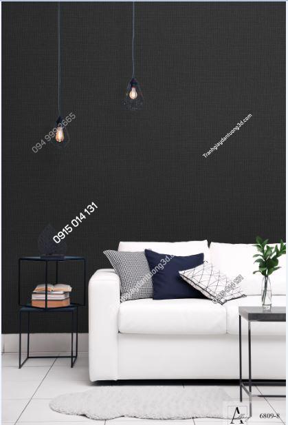 Giấy dán tường một màu giả vải đen 6809-8 KG