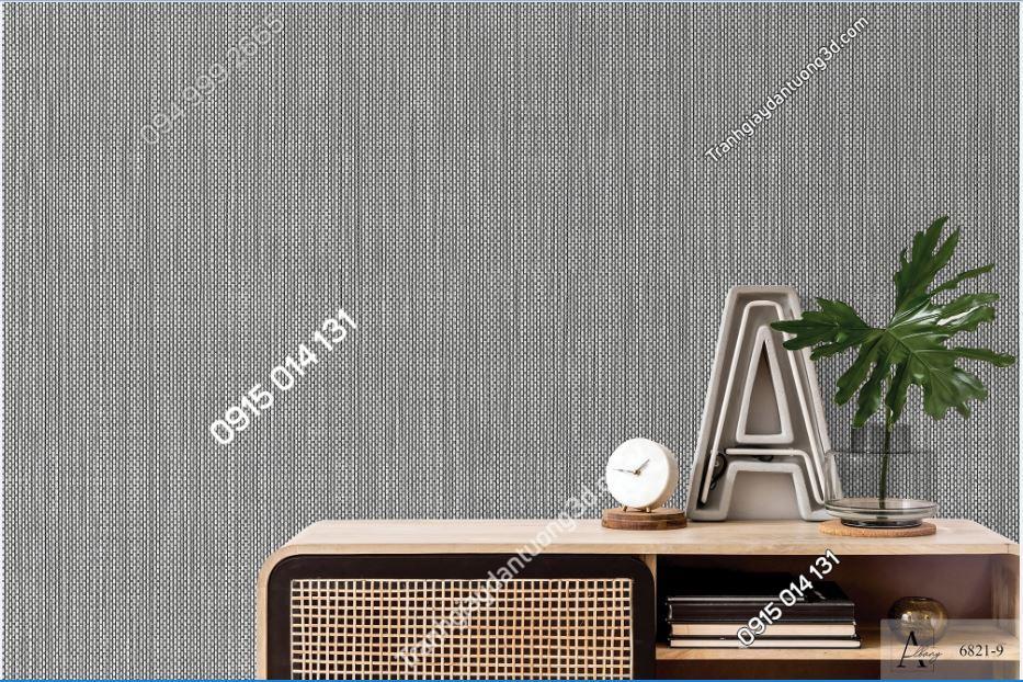 Giấy dán tường một màu giả vải ghi xám 6821-9 KG