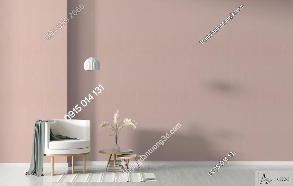 Giấy dán tường một màu hồng nâu 6822-5 KG