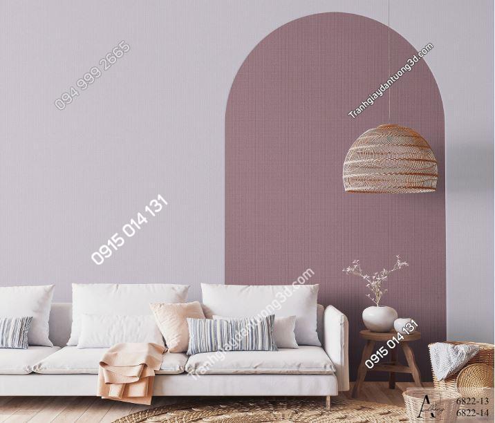 Giấy dán tường một màu nâu hồng 6822-13,6822-14 KG