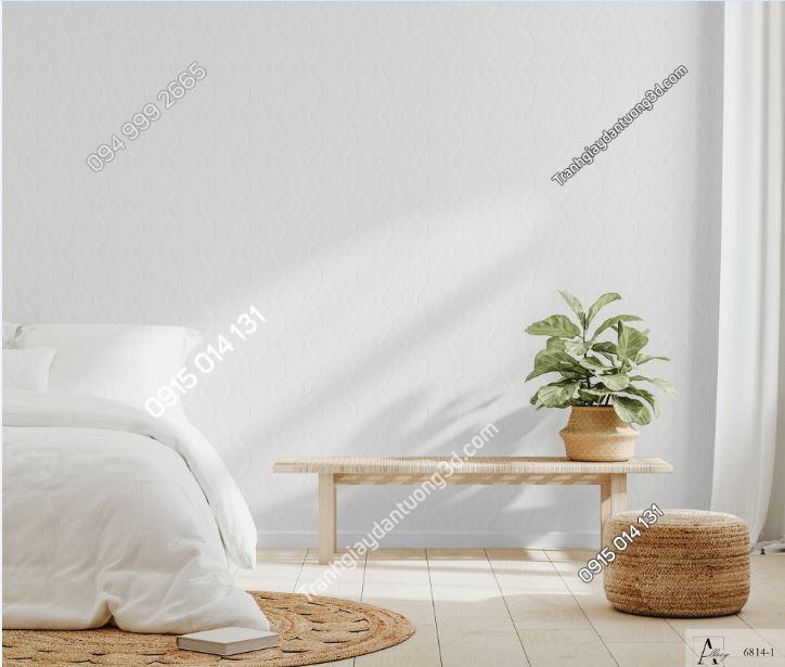 Giấy dán tường một màu trắng 6814-1 KG