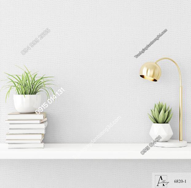 Giấy dán tường một màu trắng 6820-1 KG