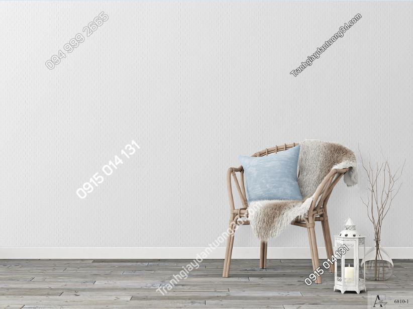 Giấy dán tường một màu trắng đục 6810-1 KG