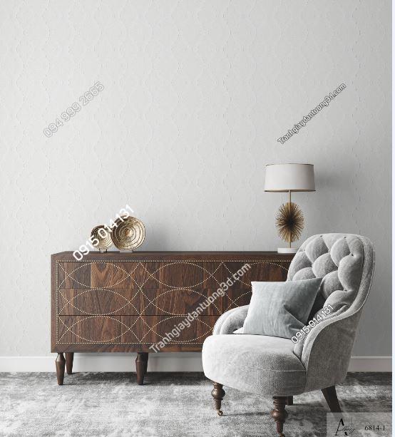 Giấy dán tường một màu trắng đục 6814-1 (1) KG