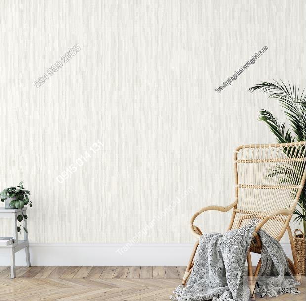 Giấy dán tường một màu trắng đục 6821-2 KG