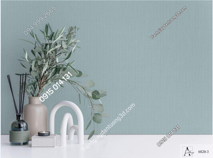 Giấy dán tường một màu xanh 6820-3 KG