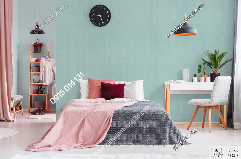 Giấy dán tường một màu xanh 6822-7,6822-8 KG