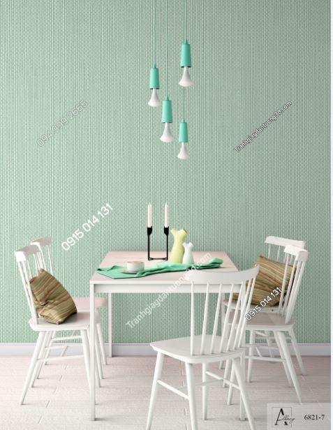 Giấy dán tường một màu xanh lá 6821-7 KG