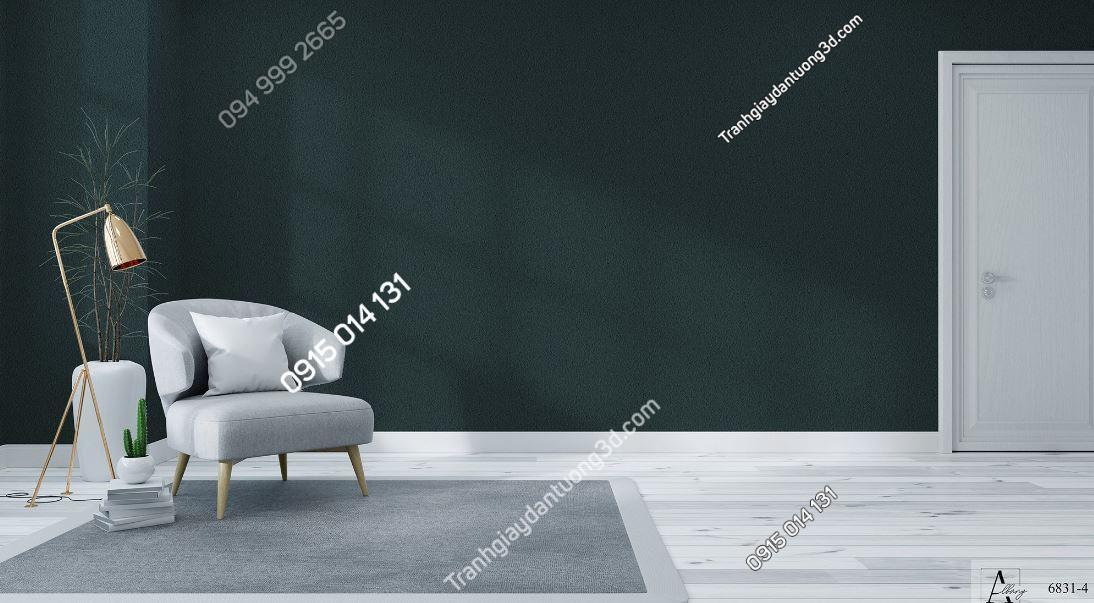 Giấy dán tường một màu xanh rêu 6831-4 KG