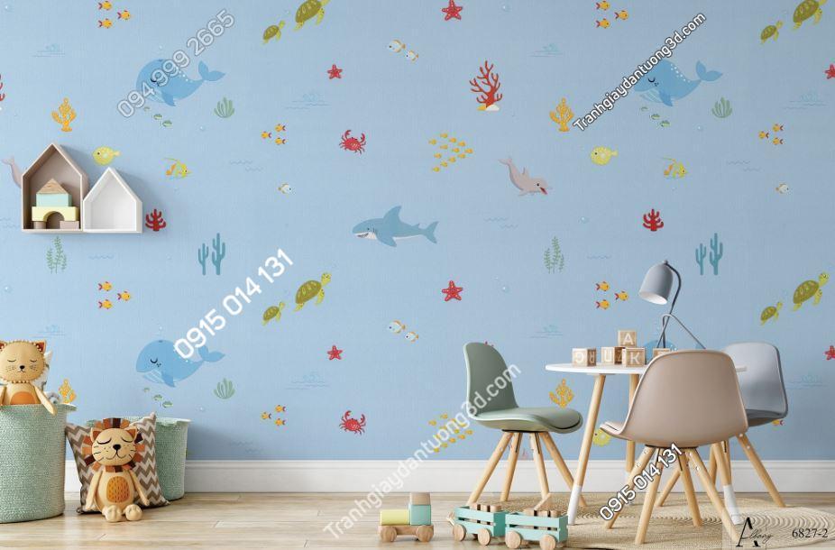 Giấy dán tường trẻ em đại dương cá 6827-2 KG