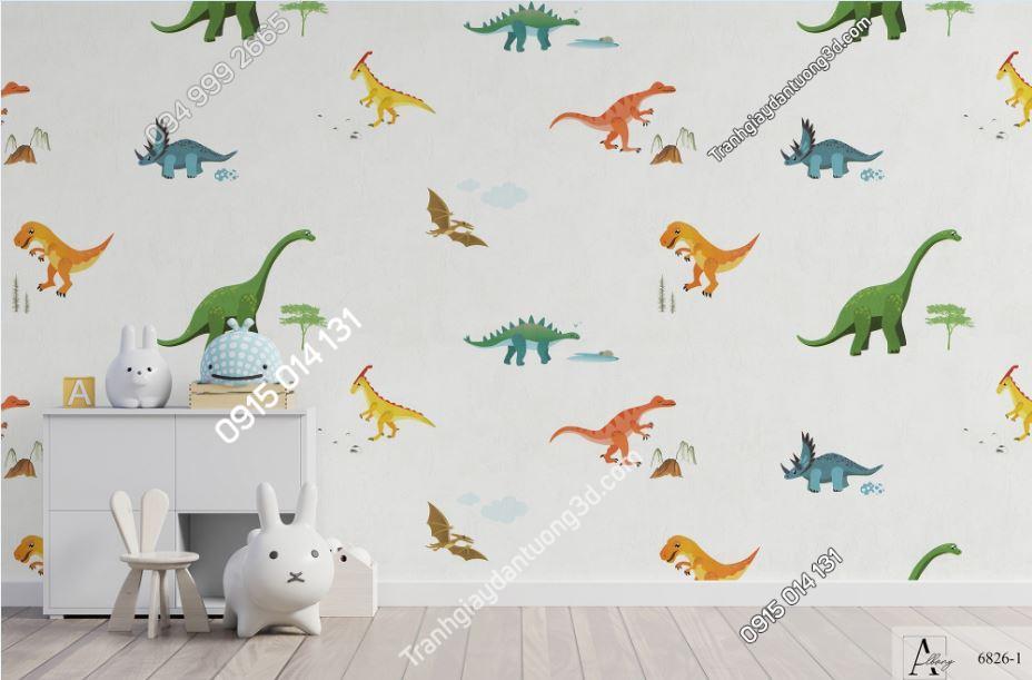 Giấy dán tường trẻ em khủng long 6826-1 KG