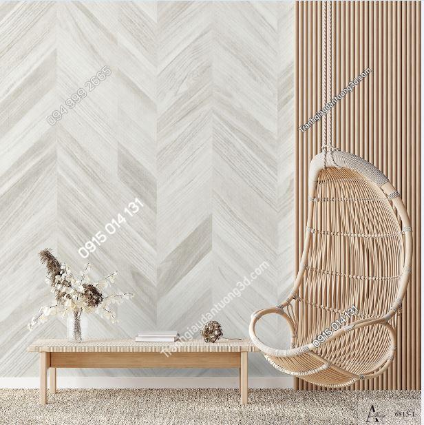 Tranh dán tường giả gỗ sọc chéo 6815-1 KG